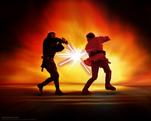 Lightsabers Clash